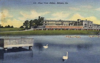 West View Abbey - Atlanta, Georgia GA Postcard