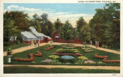Grant Park - Atlanta, Georgia GA Postcard