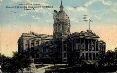 General J.B. Gordon Monument - Atlanta, Georgia GA Postcard