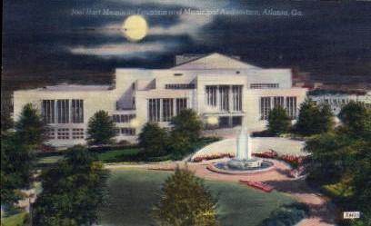 Joel Hurt Fountain  - Atlanta, Georgia GA Postcard