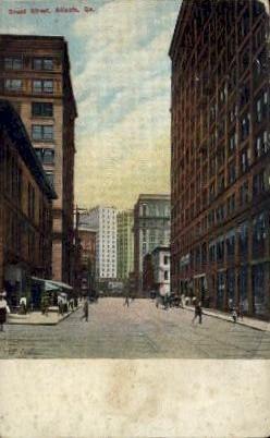 Broad St. - Atlanta, Georgia GA Postcard