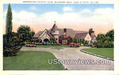 Brookhaven Country Club - Atlanta, Georgia GA Postcard