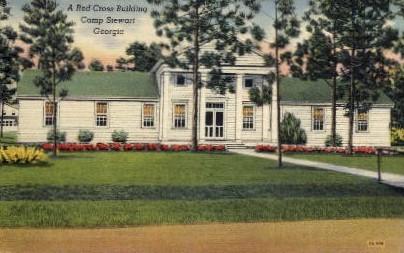 A Red Cross Building - Camp Stewart, Georgia GA Postcard