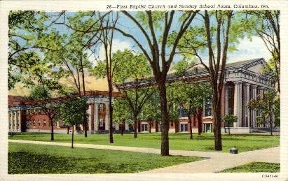 First Baptist Church - Columbus, Georgia GA Postcard