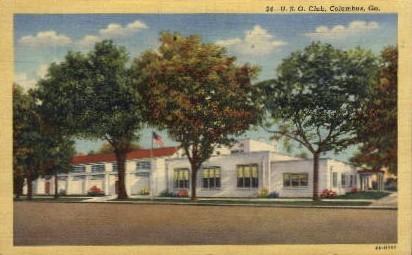 U.S.O. Club - Columbus, Georgia GA Postcard