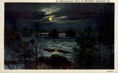 Chattahoochee River - Columbus, Georgia GA Postcard