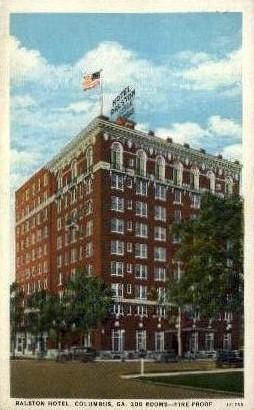 Ralston Hotel - Columbus, Georgia GA Postcard