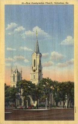 First Presbyterian Church - Columbus, Georgia GA Postcard