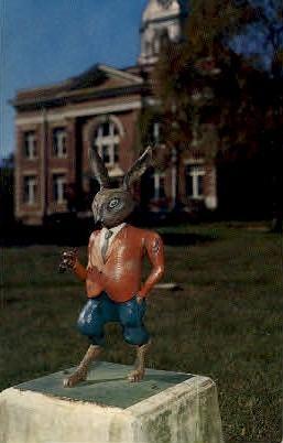 Br'er Rabbit Statue - Eatonton, Georgia GA Postcard