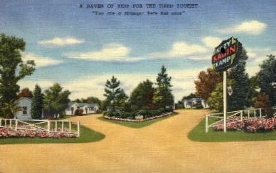A Haven of Rest for the Tired Tourist - Folkston, Georgia GA Postcard
