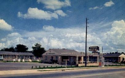 Baker's Motel - Griffin, Georgia GA Postcard