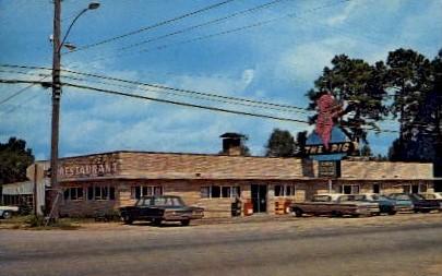 The Pig Restaurant - Jesup, Georgia GA Postcard