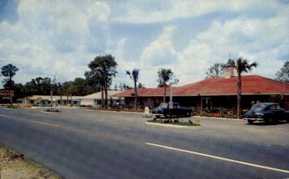 Landmark Motor Lodge and Restaurant - Jesup, Georgia GA Postcard