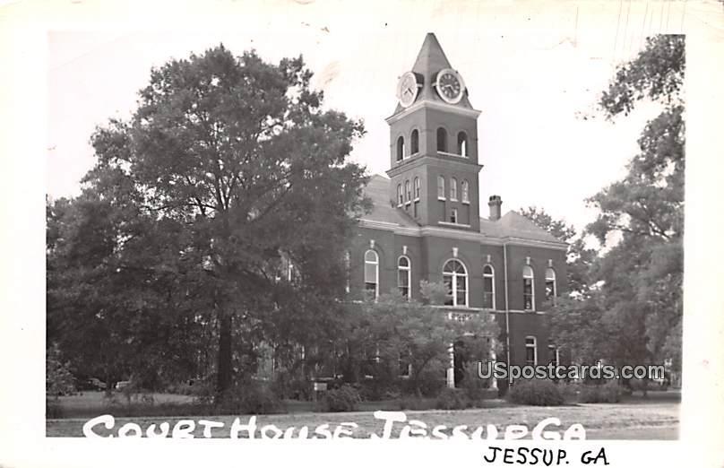 Court House - Jessup, Georgia GA Postcard