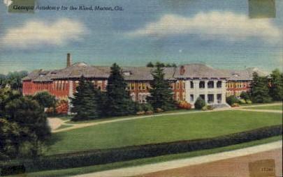 Academy for the Blind - Macon, Georgia GA Postcard