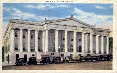 City Hall - Macon, Georgia GA Postcard