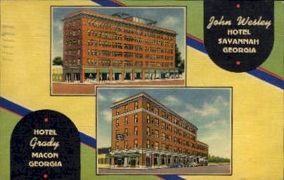 Hotels with a Year 'Round Rate - Macon, Georgia GA Postcard