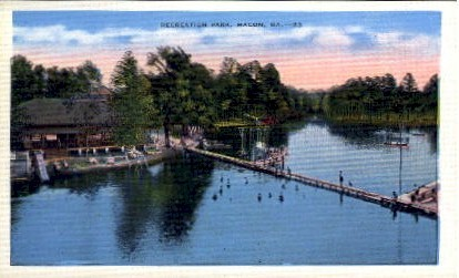 Recreation Park - Macon, Georgia GA Postcard