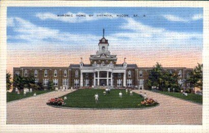 Masonic Home of GA - Macon, Georgia GA Postcard