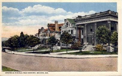 GA Ave. Residences - Macon, Georgia GA Postcard