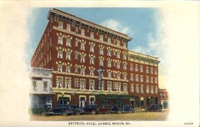 Exterior, Hotel Lanier - Macon, Georgia GA Postcard