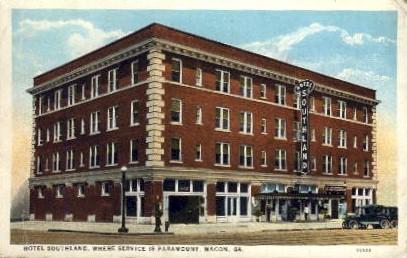 Hotel Southland - Macon, Georgia GA Postcard