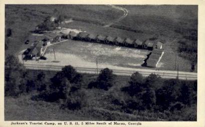 Jackson's Tourist Camp - Macon, Georgia GA Postcard