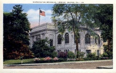 Washington Memorial Library - Macon, Georgia GA Postcard