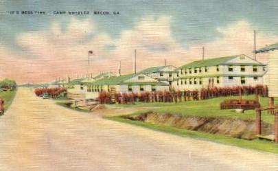 Camp Wheeler - Macon, Georgia GA Postcard