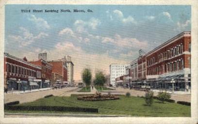 Third St. - Macon, Georgia GA Postcard