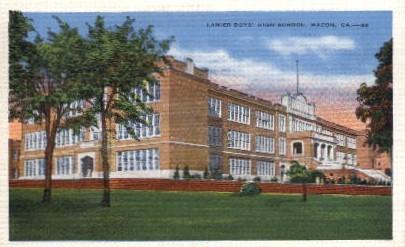 Lanier Boy's High School - Macon, Georgia GA Postcard