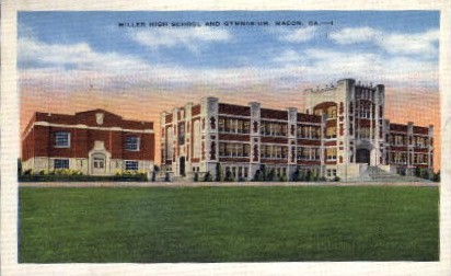 Miller High School and Gymnasium - Macon, Georgia GA Postcard