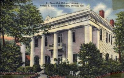 Colonial Home - Macon, Georgia GA Postcard