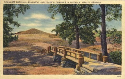 Ocmulgee National Monument  - Macon, Georgia GA Postcard