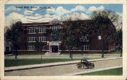 Lanier High School - Macon, Georgia GA Postcard