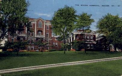The Macon Hospital - Georgia GA Postcard