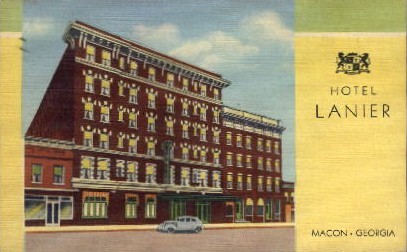 Hotel Lanier - Macon, Georgia GA Postcard