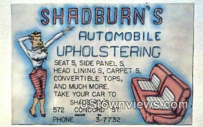 WH Shadburn - Macon, Georgia GA Postcard