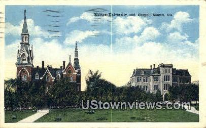 Mercer University & Chapel - Macon, Georgia GA Postcard