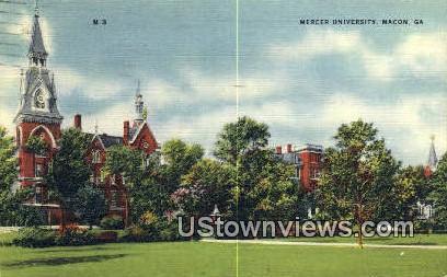 Mercer University - Macon, Georgia GA Postcard