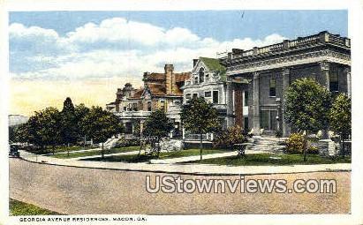 Georgia Ave Residence - Macon Postcard