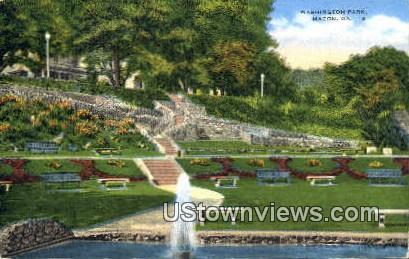 Washington Park - Macon, Georgia GA Postcard