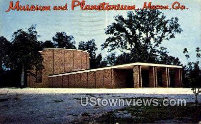 Museum & Planetarium - Macon, Georgia GA Postcard
