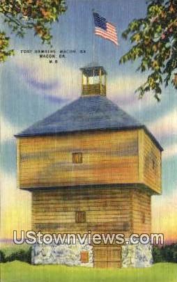 Fort Hawkins - Macon, Georgia GA Postcard