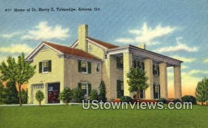 Home of Dr. Harry E. Talmadge - Athens, Georgia GA Postcard