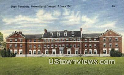 Boys Dormitory, University of Georgia - Athens Postcard