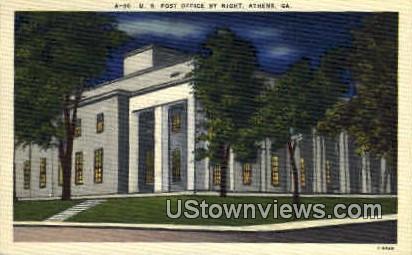 U.S. Post Office - Athens, Georgia GA Postcard