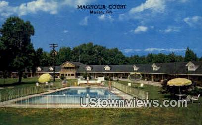 Magnolia Court - Macon, Georgia GA Postcard
