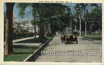 Lower Broad St. - Columbus, Georgia GA Postcard