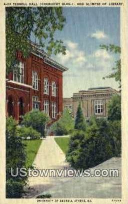 Terrell Hall, University of Georgia - Athens Postcard